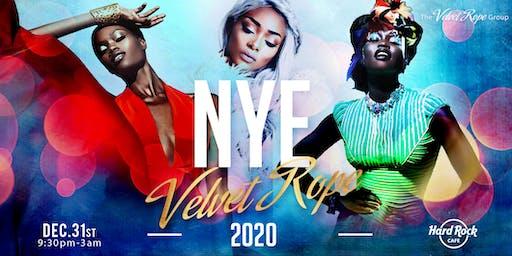 Velvet Rope NYE 2020 Gala at the Hardrock Cafe!