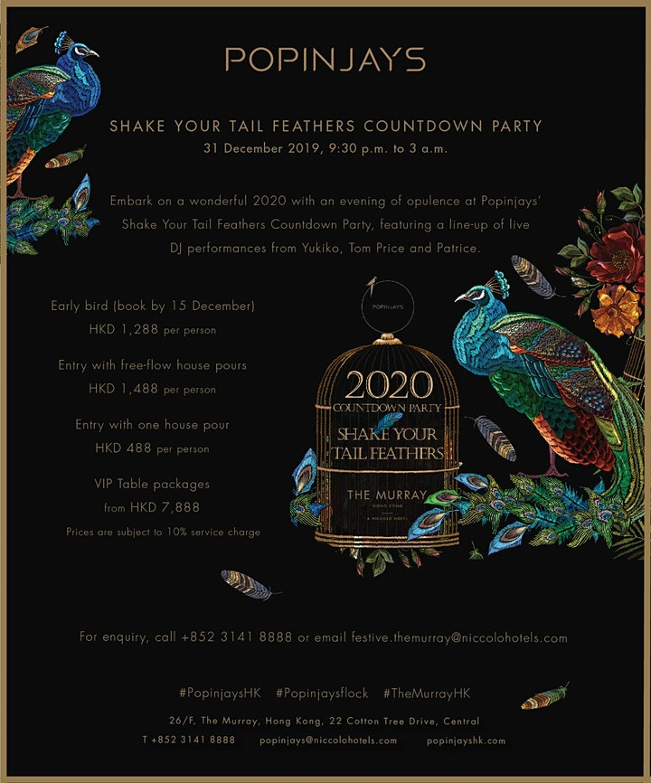 Shake Your Tail Feathers, New Years Eve Countdown Party image