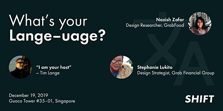SHIFT: What's your Language? A conversation on Research & Service Design tickets
