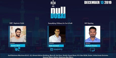 null Dubai Cyber Security Monthly Meetup, The Open Security Community tickets