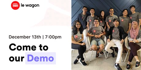 Le Wagon Singapore Demo Day - Batch #331 tickets