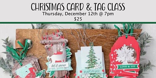 Christmas Cards & Tags CLASS
