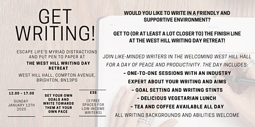 Get Writing! The West Hill Writing Day Retreat 2020