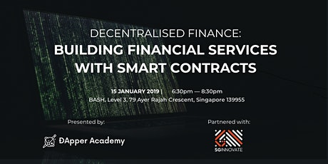 Decentralised Finance: Building Financial Services With Smart Contracts tickets