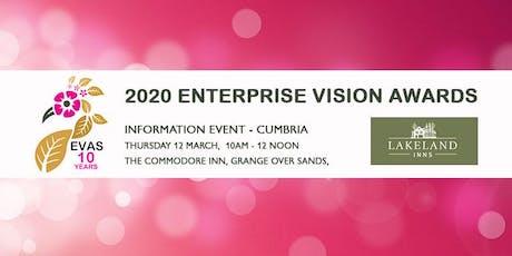 Free 2020 Enterprise Vision Awards Information Event 'Cumbria' tickets