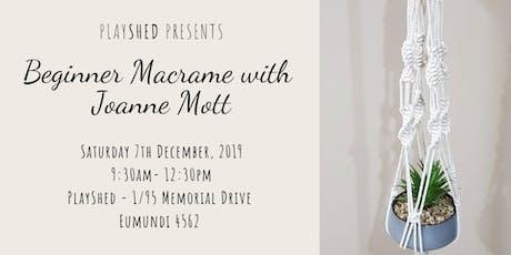 Beginner Macrame with Joanne Mott tickets