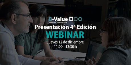 Webinar Presentación 4ª Edición B-Value entradas