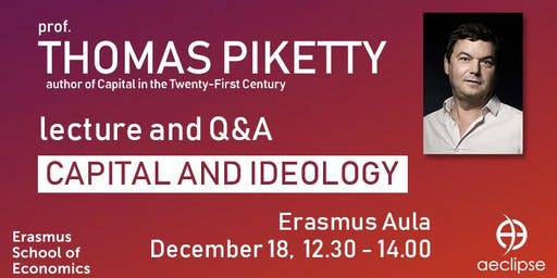 Lecture by Thomas Piketty at Erasmus University