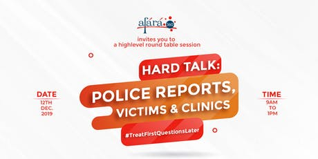 Roundtable High-Level Conversations with victim, Police, Doctors & Govt tickets