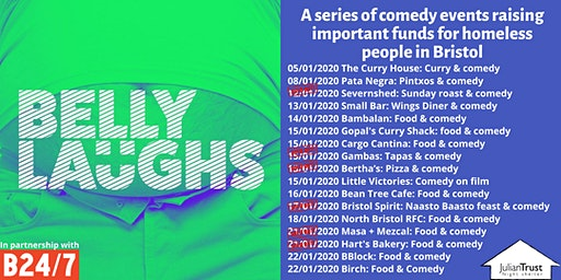 Belly Laughs at Birch: Three course meal and Comedy