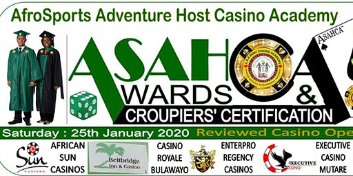 AfroSports Adventure Host Casino Academy Awards and Croupiers Certification