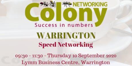 Colony Speed Networking (Warrington) - 10 September 2020 tickets