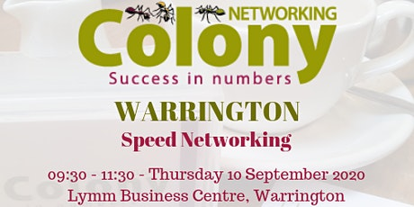Colony Speed Networking (Warrington) - 10 September 2020 tickets