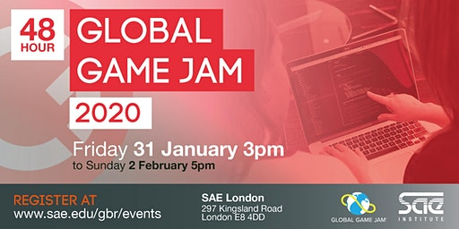 Global Game Jam 2020 SAE Institute London - OFFICIAL REGISTRATION