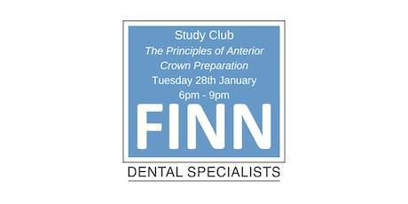 January Study Club: Principles of anterior crown preparation tickets