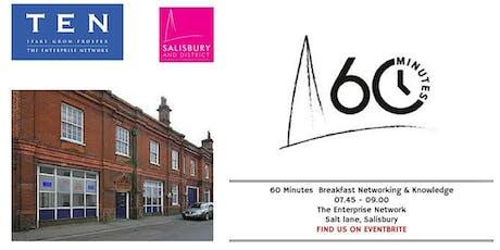 60 Minutes Breakfast workshop 21st January 2020 at TEN, Salt Lane, Salisbury  tickets