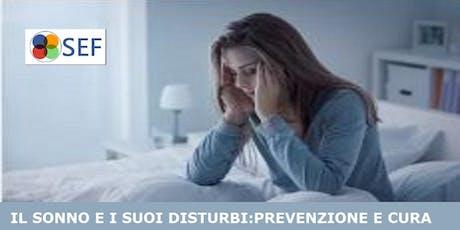 """[ROMA] Formazione gratuita """"Il sonno e i suoi disturbi"""" biglietti"""