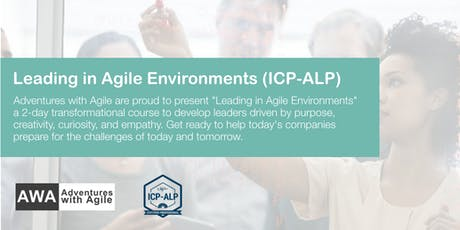 Leading in Agile Environments (ICP-ALP) - March 2019 tickets