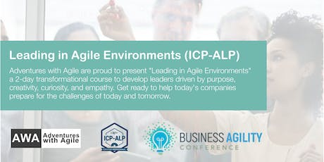 Leading in Agile Environments (ICP-ALP) | NYC - March 2020 tickets