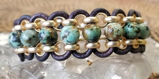 FREE: Leather & Chain Bracelet - Jewelry Making