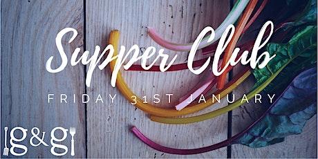 Gluts & Gluttony Seasonal Supper Club - 31st January tickets