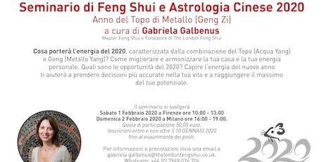 SEMINARIO DI FENG SHUI E ASTROLOGIA CINESE 2020 tickets