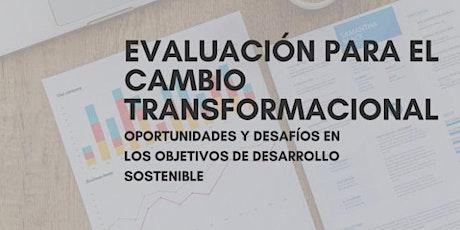 Evaluación para el Cambio Transformacional: Oportunidades/Desafíos en ODS entradas