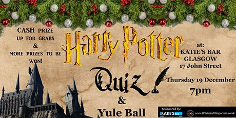 Christmas Harry Potter Quiz & Yule Ball tickets