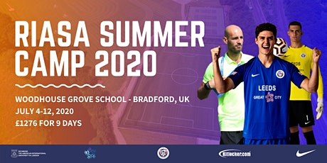 RIASA Summer Camp 2020 | Summer Soccer Camp in the UK tickets