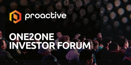 Proactive One2One Forum - 9th January  tickets