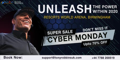 Tony Robbins -Unleash The Power Within (UPW Birmingham 2020)  tickets