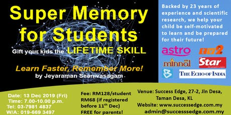 Super Memory for Students tickets