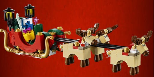 Motorised Lego Santa's Sleigh Building Workshop