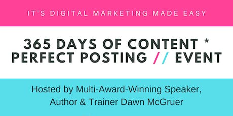 365 Days of Content + Perfect Posting Event (Manchester) tickets