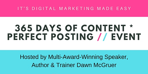 365 Days of Content + Perfect Posting Event (Manchester)