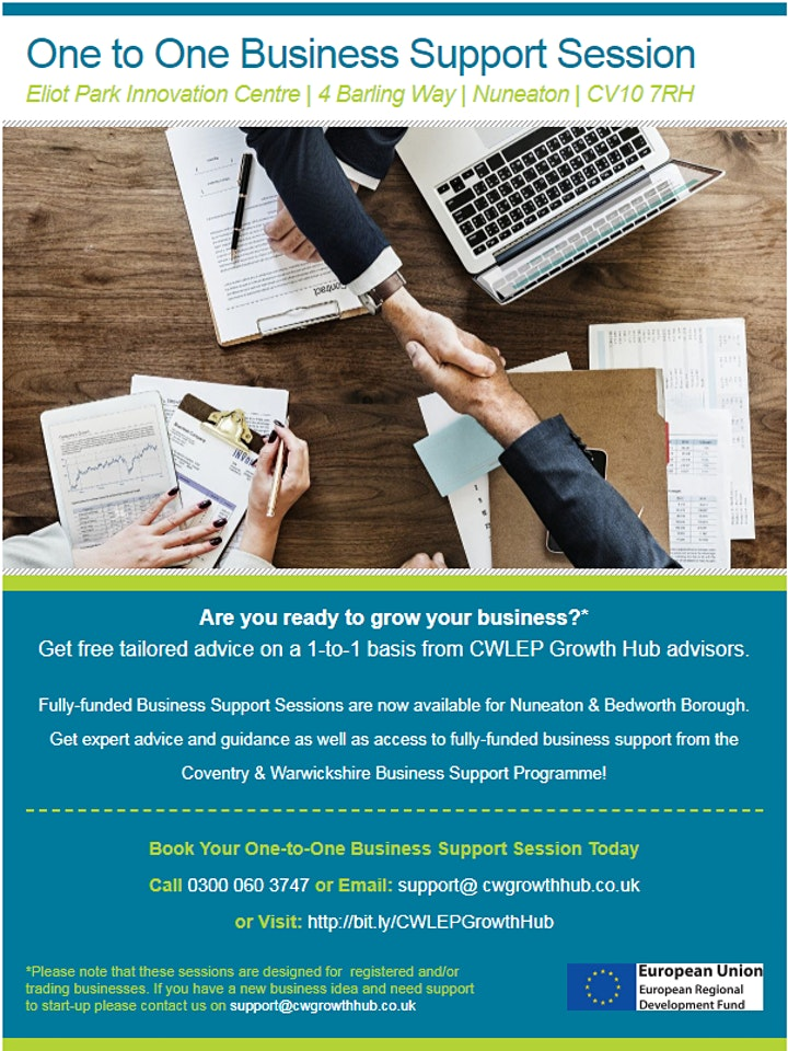 One to One Business Support Session for Nuneaton & Bedworth Businesses image