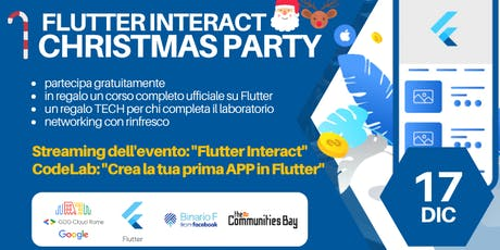 Meetup #TheCmmBay GDG Cloud Roma – Flutter Interact: Viewing Party +Codelab tickets