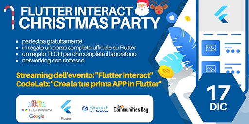 Meetup #TheCmmBay GDG Cloud Roma – Flutter Interact: Viewing Party +Codelab