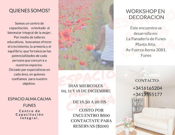 Workshop De Decoración Entradas Mie 4 Dic 2019 A Las 18