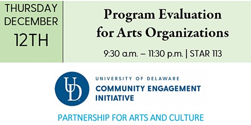PAC Workshop - Program Evaluation for Arts Organizations