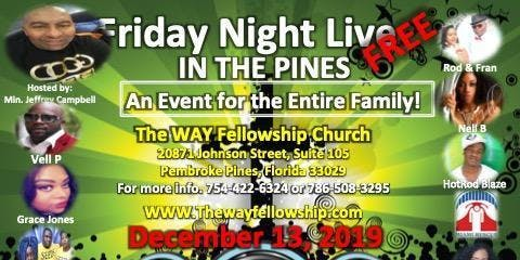 FRIDAY NIGHT LIVE IN THE PINES! Christmas Edition