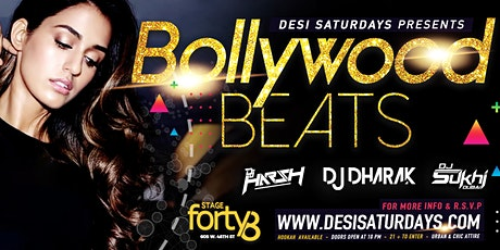 Bollywood Meets Bhangra @ Stage48 NYC - A Weekly Saturday Night DesiParty  tickets