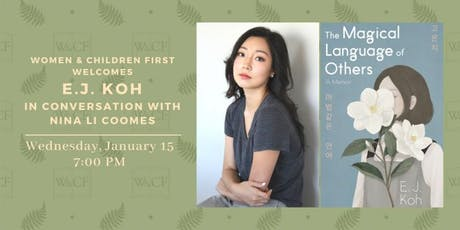 E.J. Koh in conversation with Nina Li Coomes tickets