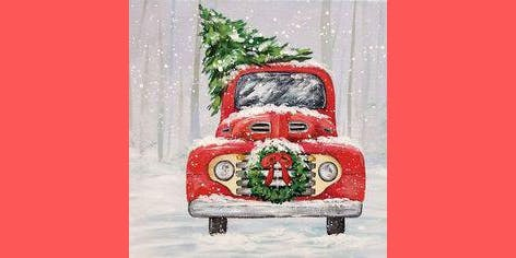 Vintage Red Truck & Christmas Tree: Sip and Paint at Watergrasshill B&B!!!!