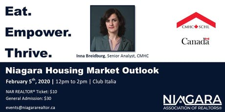 Eat. Empower. Thrive. Niagara Housing Market Update with CMHC. tickets