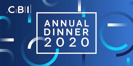 CBI Northern Ireland Annual Dinner 2020  tickets