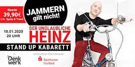 """Der unglaubliche Heinz: """"JAMMERN GILT NICHT!"""" - Comedy im Denkwerk Herford Tickets"""