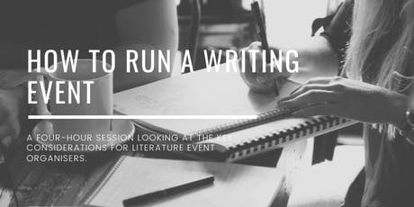 How to Run a Writing Event tickets