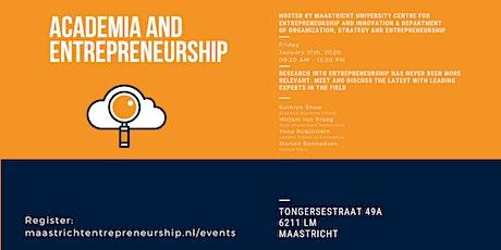 Academia and Entrepreneurship tickets