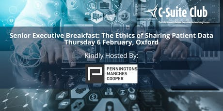 OBN Senior Executive Breakfast: 'The Ethics of Sharing Patient Data' tickets
